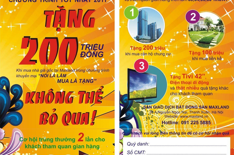 In tờ rơi giá rẻ tại Huyện Cần Giờ Sài Gòn TPHCM