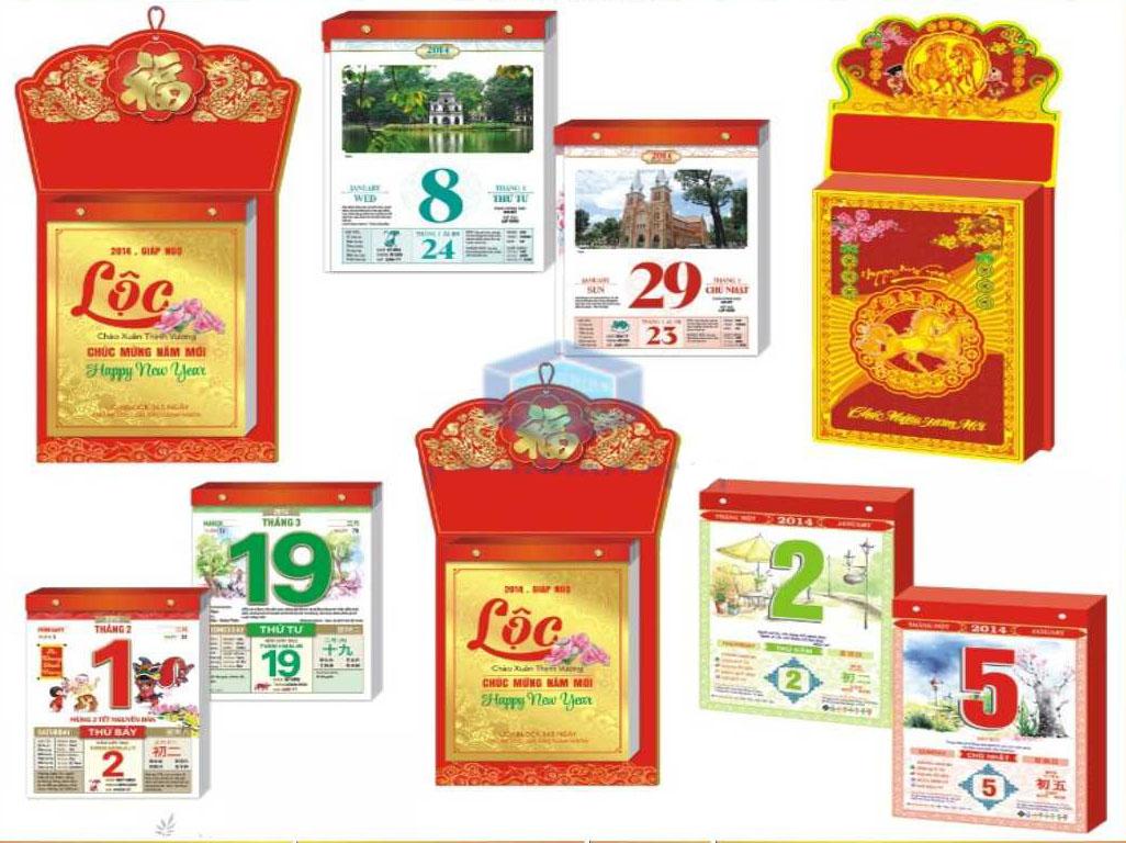 In ấn Lịch Tết giá rẻ tại Huyện Cần Giờ Sài Gòn TPHCM