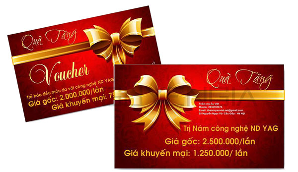 In ấn Phiếu quà tặng giá rẻ tại Quận Phú Nhuận Sài Gòn TPHCM