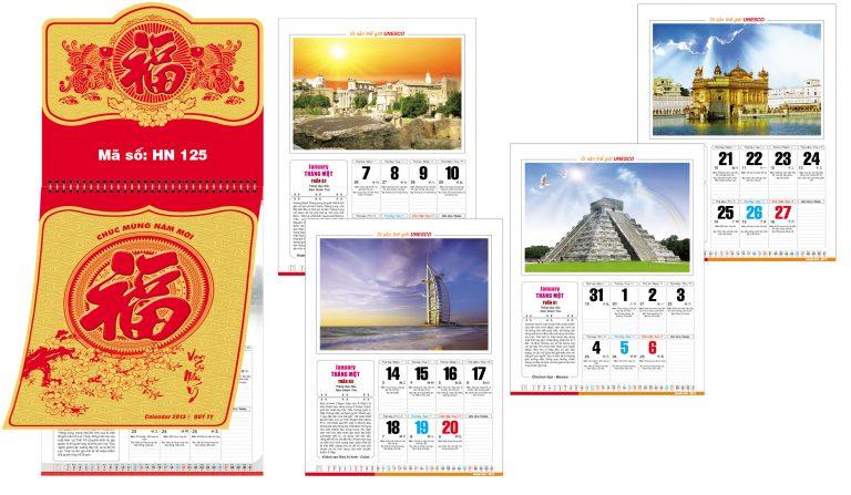 In ấn Lịch Tết giá rẻ tại Huyện Thạch Thất Hà Nội