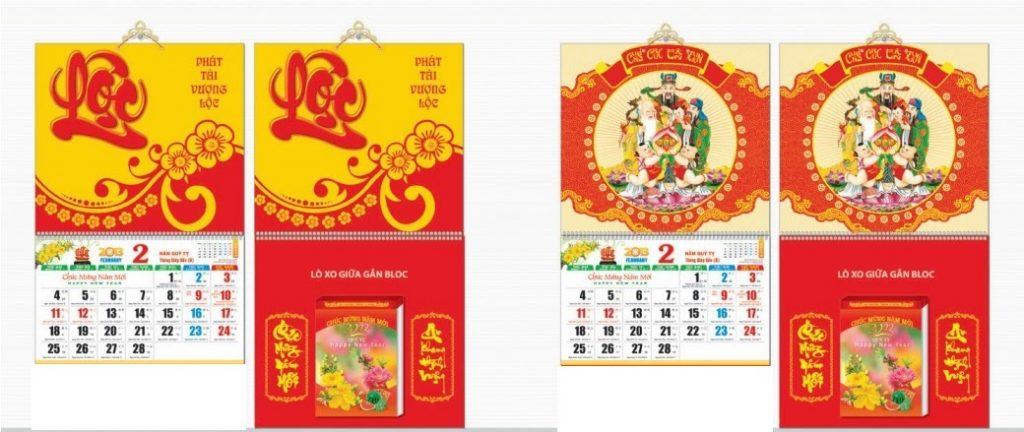 In ấn Lịch Tết giá rẻ tại Huyện Quốc Oai Hà Nội