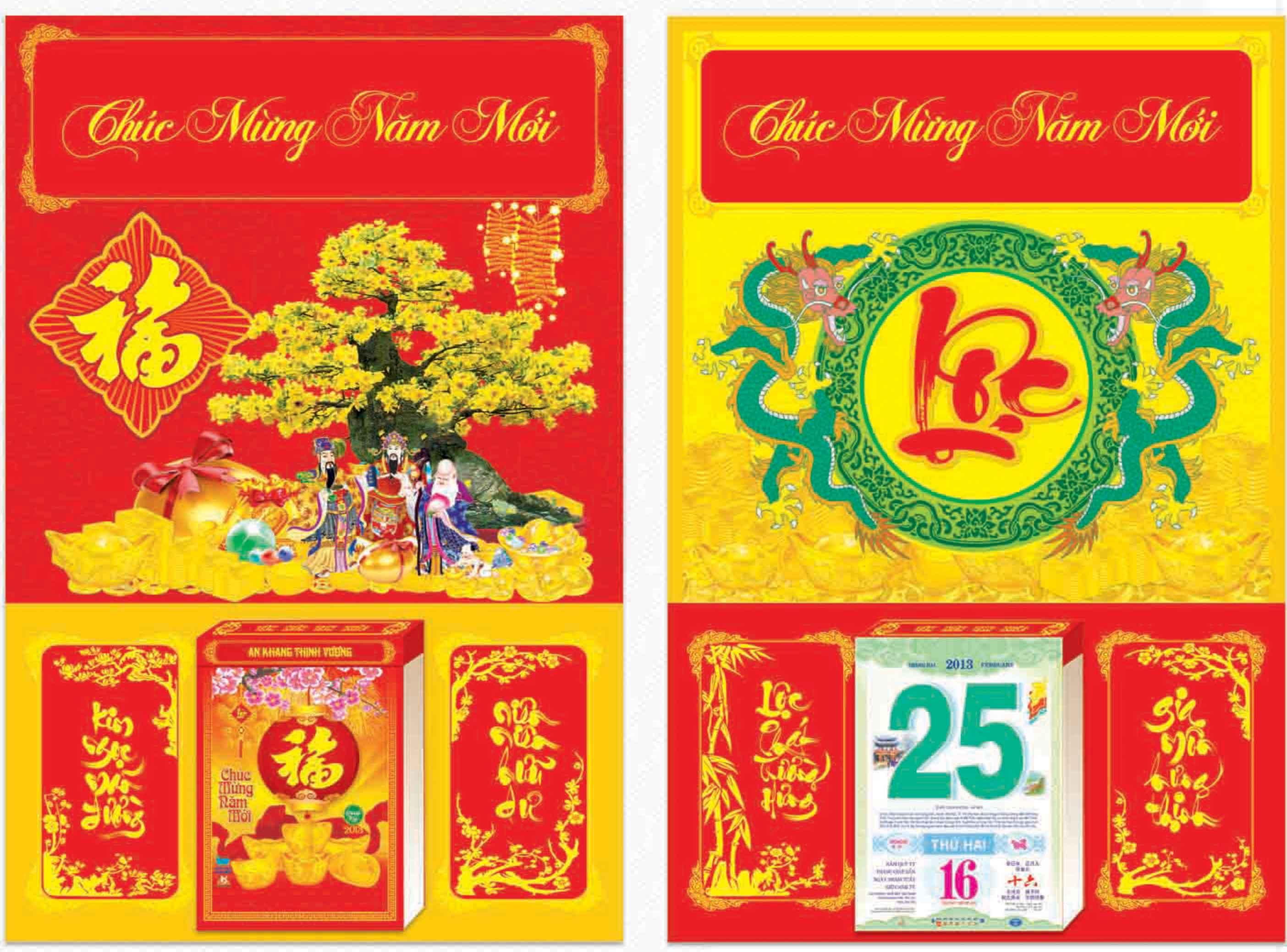 In ấn Lịch Tết giá rẻ tại Huyện Phú Xuyên Hà Nội