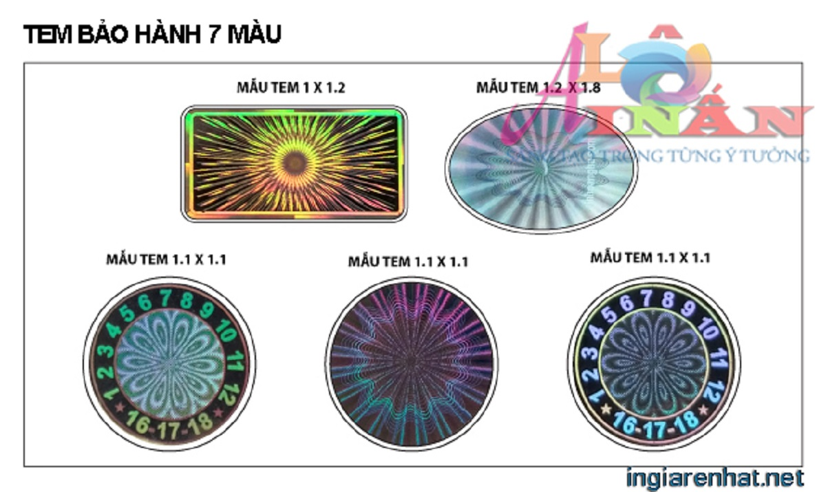Chuyên in tem 7 màu giá rẻ tại Tp HCM