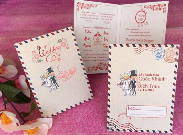 Xưởng in thiệp cưới giá rẻ quận Gò Vấp Tphcm